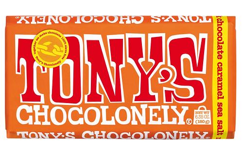 Tony Chocolonely's 100% Slave Free Milk Caramel Sea Salt Chocolate