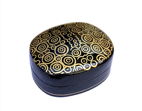 Lacquerware Box - Untitled by Nelly Patterson Art