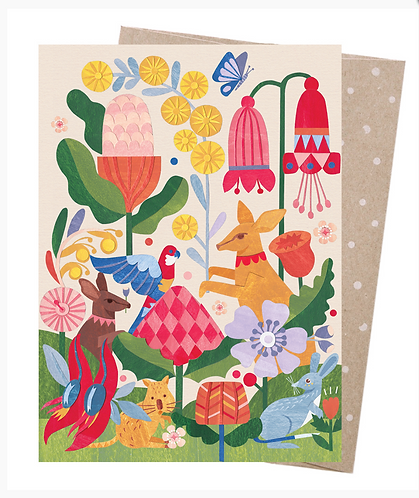 Earth Friendly Greeting Card - In the Garden