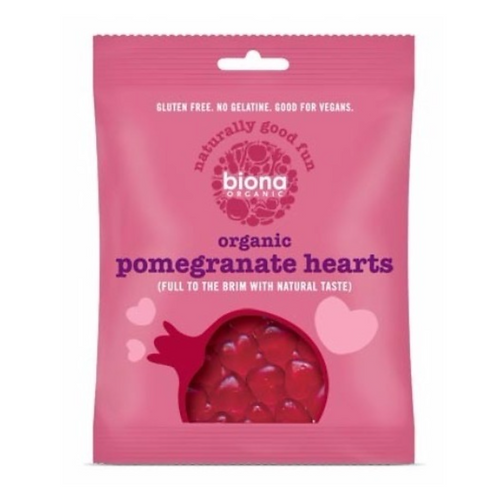 Organic Pomegranate Hearts Lollies