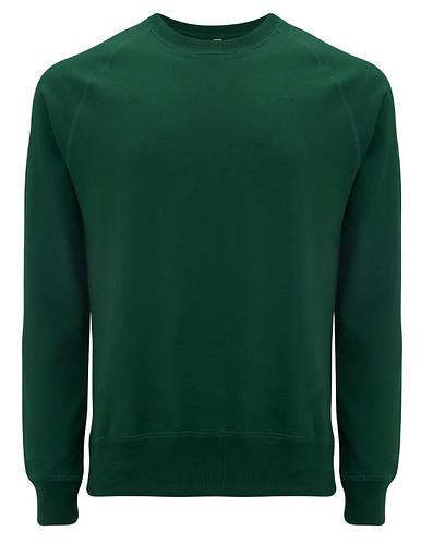 Unisex Raglan Sweatshirt Bottle Green