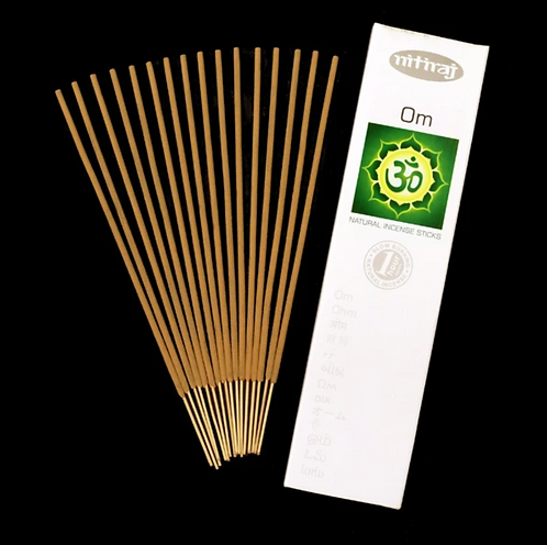 Nitiraj Platinum Incense - Om