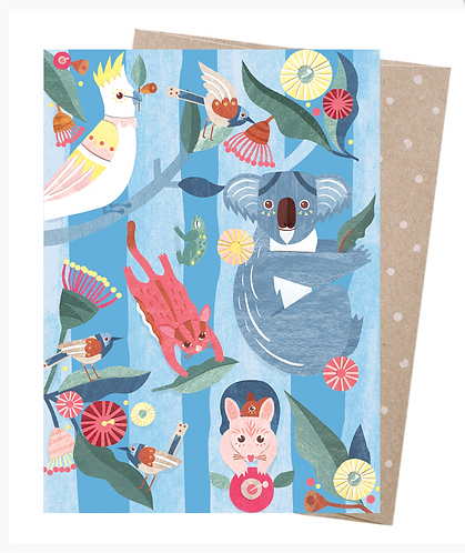 Earth Friendly Greeting Card - In the Gum Trees