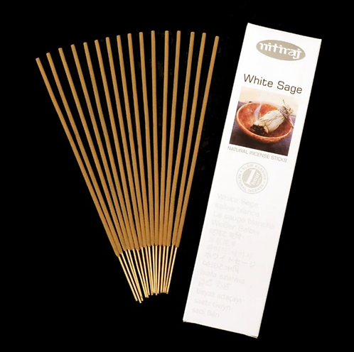 Nitiraj Platinum Incense - White Sage