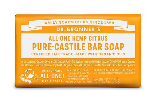 Dr Bronner's Pure-Castile Soap Bar Citrus
