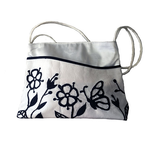 Silk Handbag with Strap