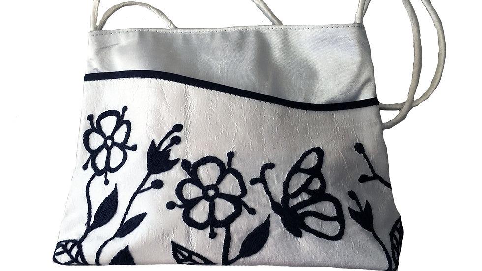 Silk Handbag with Straps