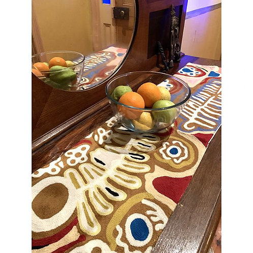 Chain Stitch Wool Table Runner - Two Dog Ancestors I