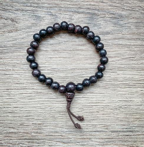 Nepalese Mala Bracelet - Rosewood
