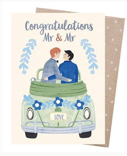 Earth Friendly Greeting Card - Grooms Honeymoon
