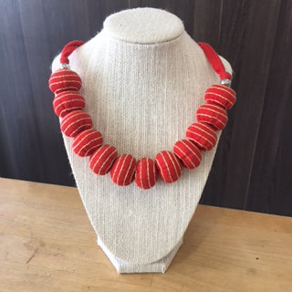 Upcycled Necklace Striped