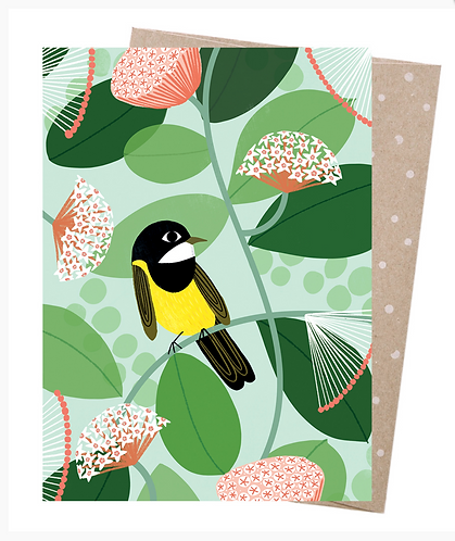 Earth Friendly Greeting Card - Australian Golden Whistler