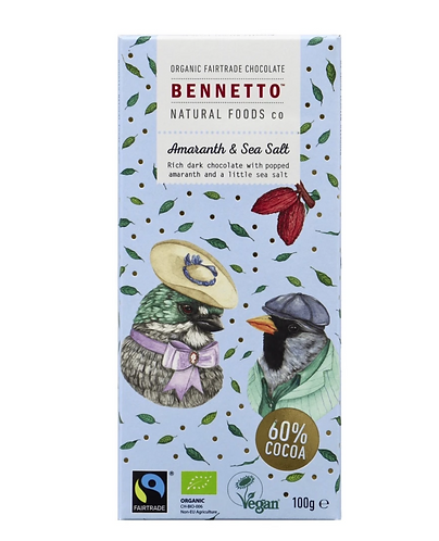 Bennetto Chocolate - Amaranth & Sea Salt