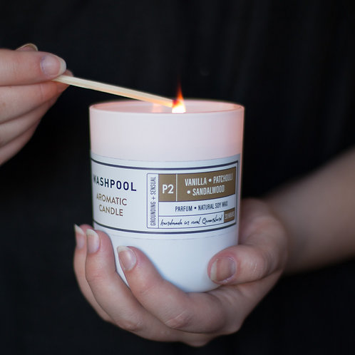 Aromatic Soy Candles - Vanilla, Patchouli & Sandalwood