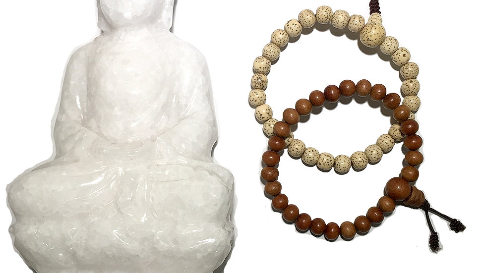 Mala Bracelets Made from Wood or Seed