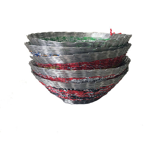 Recycled Drink Can Bowl - Red