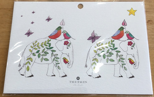 Gift Tag - Two Elephants