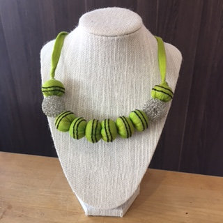 Upcycled Necklace Mesh Sphere