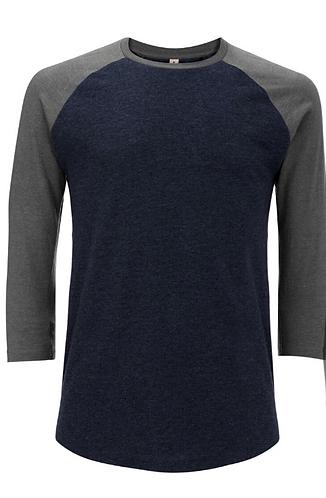 Unisex Baseball T-Shirt Melange Navy