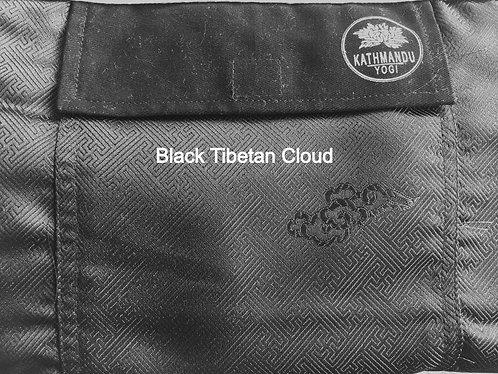 Yoga Mat Bag Tibetan Silk Brocade - Tibetan Cloud Black