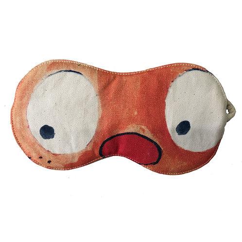 Cotton Eye Mask - Eyes Open Orange