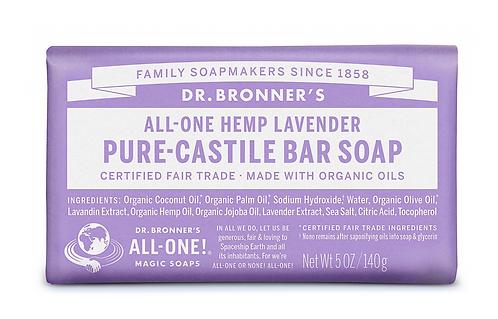 Dr Bronner's Pure-Castile Soap Bar Lavender