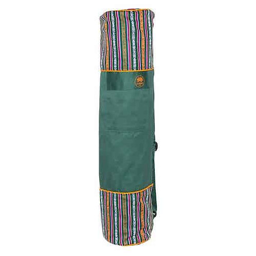 Yoga Mat Bag Bhutanese Weave - Green