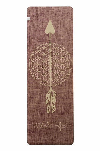 Eco Yoga Mat by YogaTribe® - Red Wine