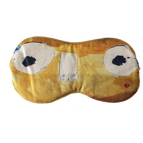 Cotton Eye Mask - Eyes Open Yellow