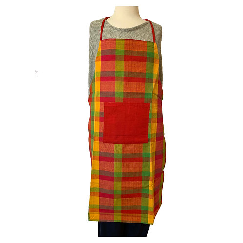 Kitchen Apron - Red Pocket/Red Stripe