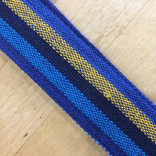 Yoga Mat Strap (Handloom) - Blue & Gold