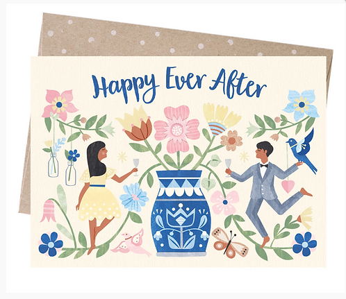 Earth Friendly Greeting Card - Happy Ever After