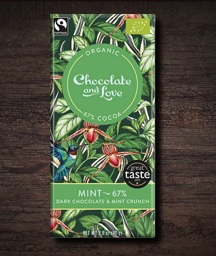 Chocolate & Love Fairtrade Organic Mint 67% Chocol