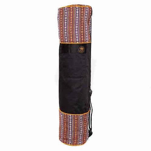 Yoga Mat Bag Bhutanese Weave - Black