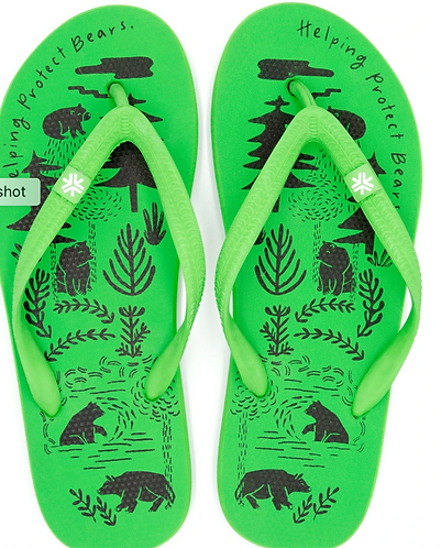 Natural Rubber Thongs Supporting Free the Bears