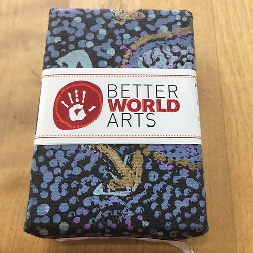 Soap Wrapped in Indigenous Art - Peppermint, Fuller's Earth & Indigo