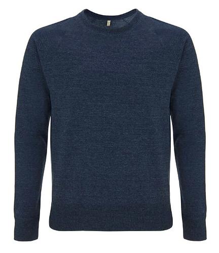 Unisex Raglan Sweatshirt Melange Navy