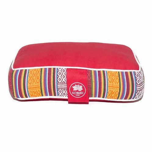 Meditation Travel Pillow Bhutanese Weave - Red