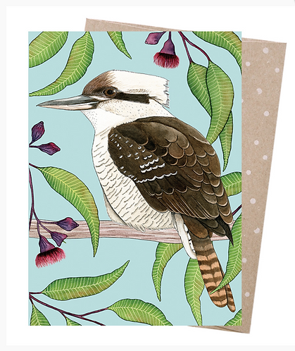 Earth Friendly Greeting Card - Kookaburra Calling