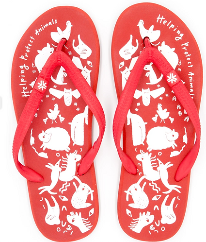 Natural Rubber Thongs Supporting Animals Australia