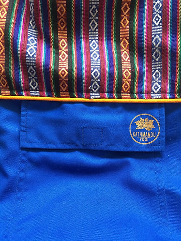 Yoga Mat Bag Bhutanese Weave - Sky Blue