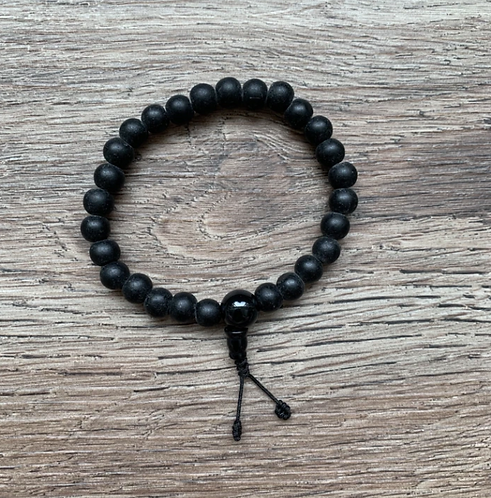 Nepalese Mala Bracelet - Onyx