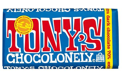 Tony Chocolonely's 100% Slave Free Extra Dark Chocolate