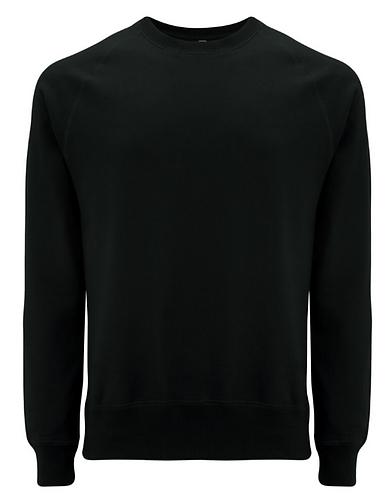 Unisex Raglan Sweatshirt Black