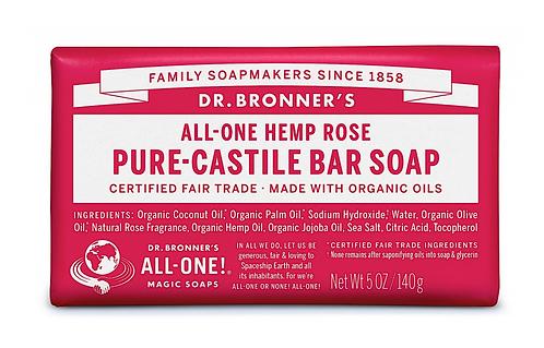 Dr Bronner's Pure-Castile Soap Bar Rose