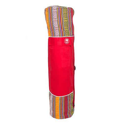 Yoga Mat Bag Bhutanese Weave - Red