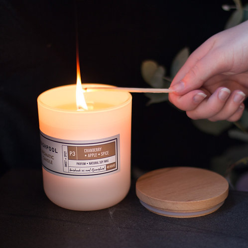 Aromatic Soy Candles - Cranberry, Apple & Spice