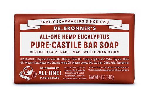 Dr Bronner's Pure-Castile Soap Bar Eucalyptus