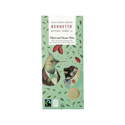 Bennetto Chocolate - Mint & Cocoa Nibs