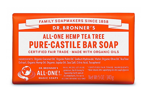 Dr Bronner's Pure-Castile Soap Bar Tea Tree